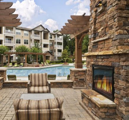 ... Outdoor Lounge At Camden Asbury Village Apartments In Raleigh, NC