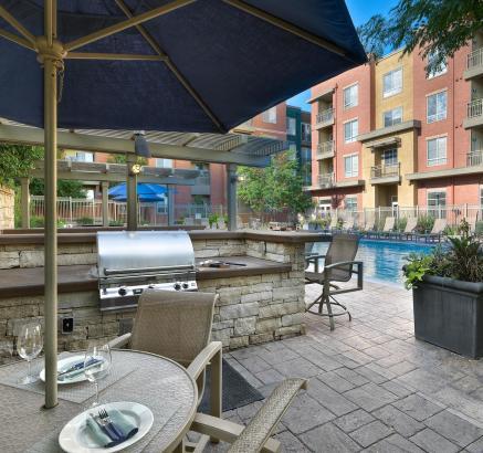 Grills  at Camden Belleview Station Apartments Denver Colorado