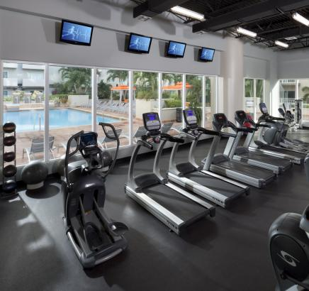 Fitness Center Camden Brickell Apartments in Miami, Florida.