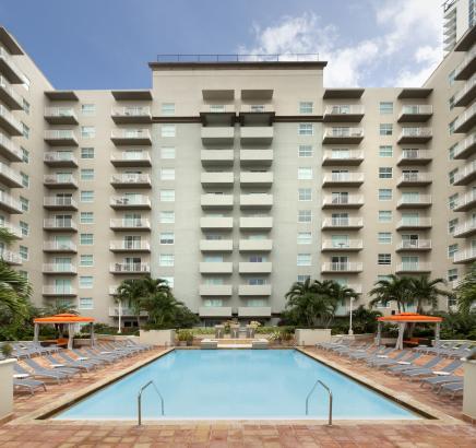 Pool at Camden Brickell Apartments in Miami, Florida.