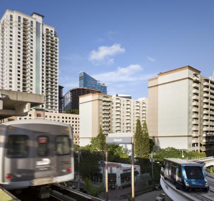 Metro Mover Camden Brickell Apartments in Miami, Florida.