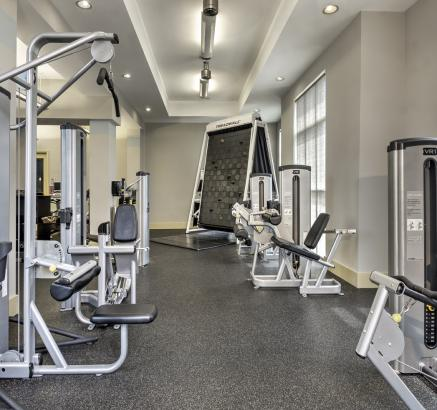 Fitness Center with Climbing Wall at Camden College Park Apartments in College Park, Maryland