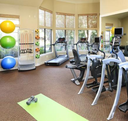 Fitness Center at Camden Gaines Ranch Apartments in Austin, Texas