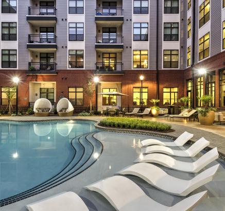 Pool at Camden Gallery Apartments in Charlotte, North Carolina