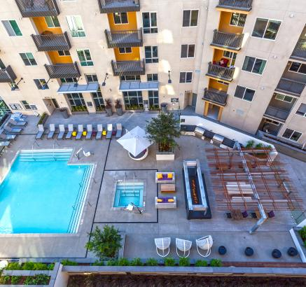 Pool view at Camden Glendale in Glendale, California