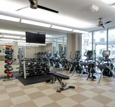 Fitness Center at Camden Lamar Heights Apartments in Austin, Texas