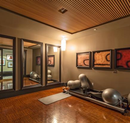 Camden Main and Jamboree apartments yoga room in Irvine, California.