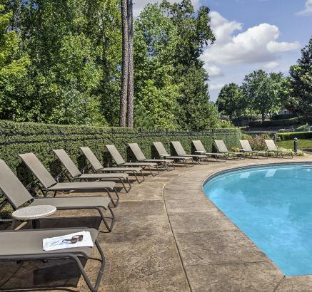 Pool at Camden Overlook Apartments in Raleigh, North Carolina