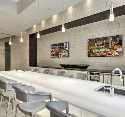 Resident Lounge with Indoor Kitchen at Camden Shady Grove apartments in Rockville, MD