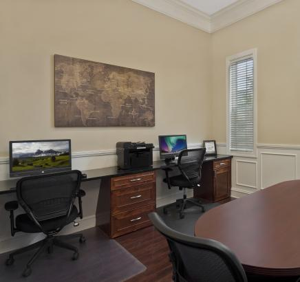 Business center at Camden Stonecrest Apartments in Charlotte, North Carolina