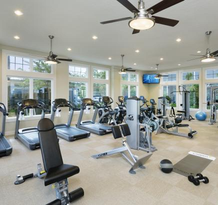 Fitness Center at Camden Waterford Lakes Apartments in Orlando, Florida