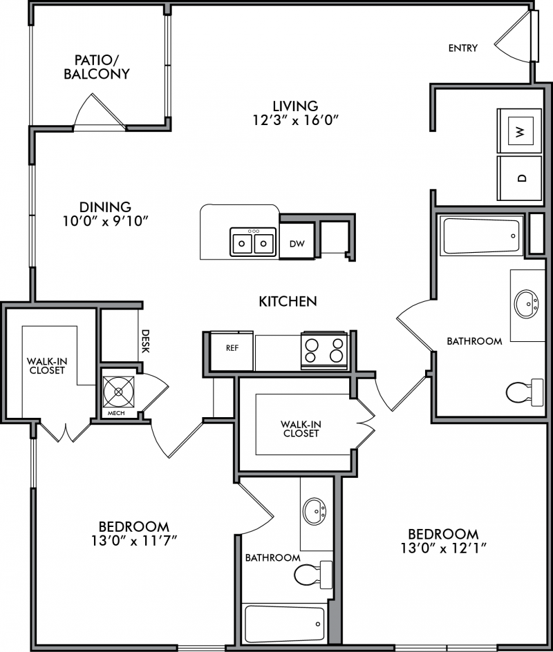 1 2 Bedroom Apartments In Houston Tx Camden Royal Oaks Ii