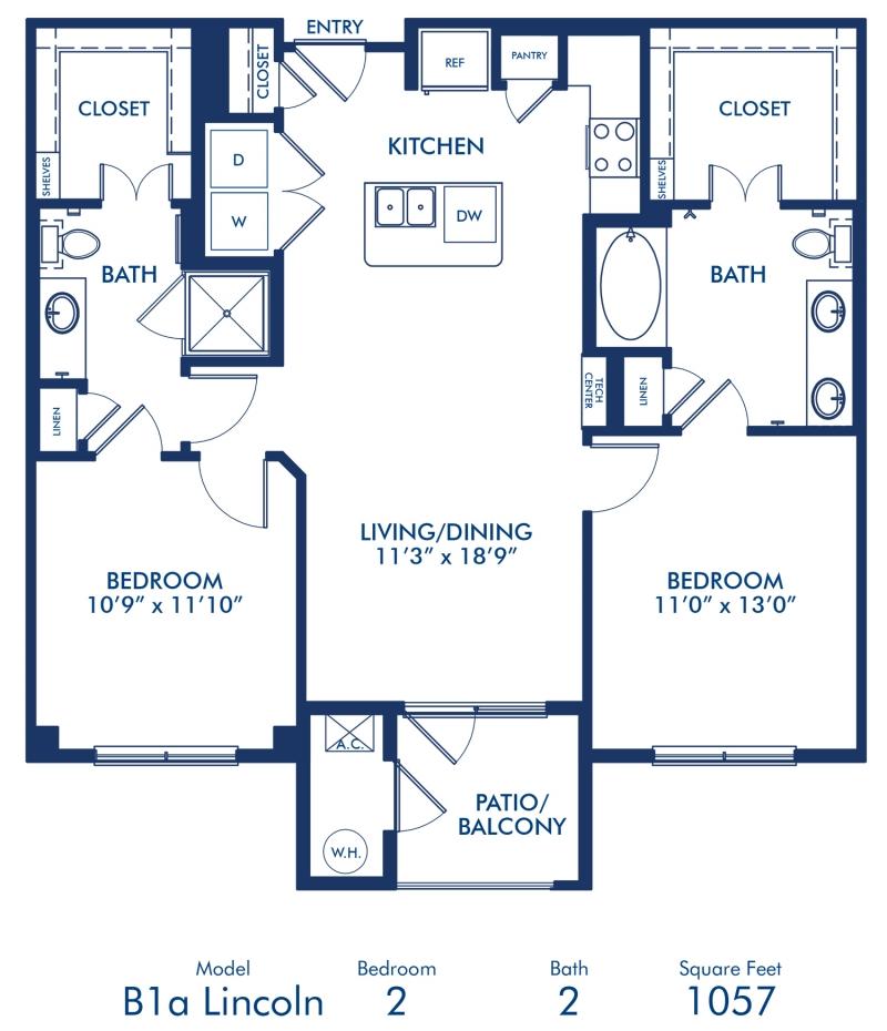 3d Floor Plan Image 2 For The 1 Bedroom Studio Floor Plan: Studio, 1 & 2 Bedroom Apartments In Lone Tree, CO