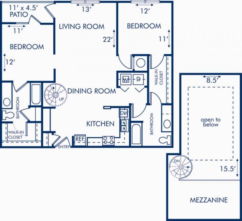 Studio 1 2 bedroom apartments in atlanta ga camden for 1010 midtown floor plans